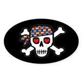Rockin' Autism Skull (Blk) Decal