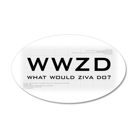 What Would Ziva Do? 38.5 x 24.5 Oval Wall Peel