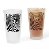 Zebra Art Pint Glass