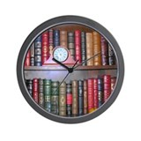 Reader's Bookshelf Wall Clock