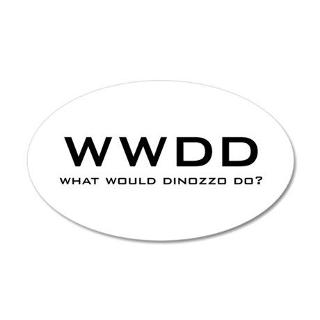 What Would DiNozzo Do? 38.5 x 24.5 Oval Wall Peel