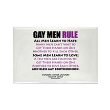 GAY MEN RULE Rectangle Magnet