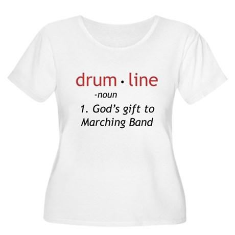 Definition of Drumline Women's Plus Size Scoop Nec