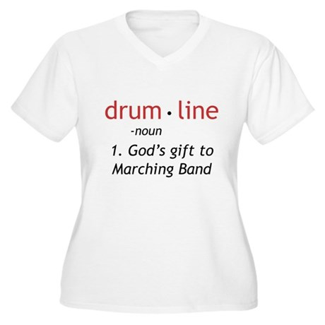 Definition of Drumline Women's Plus Size V-Neck T-