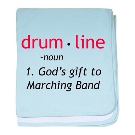 Definition of Drumline baby blanket