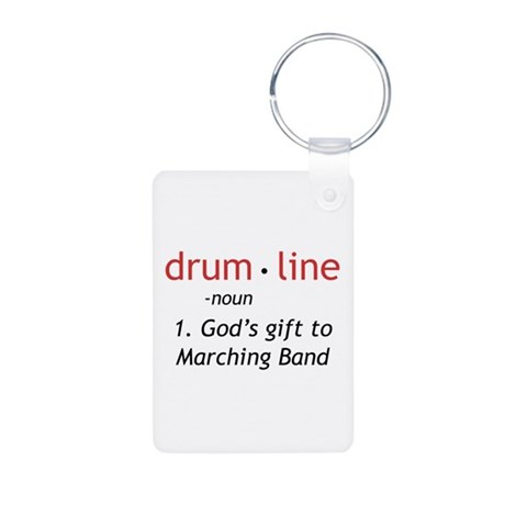 Definition of Drumline Aluminum Photo Keychain