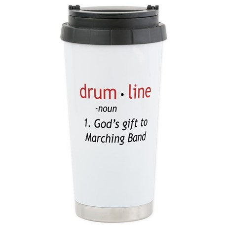 Definition of Drumline Ceramic Travel Mug