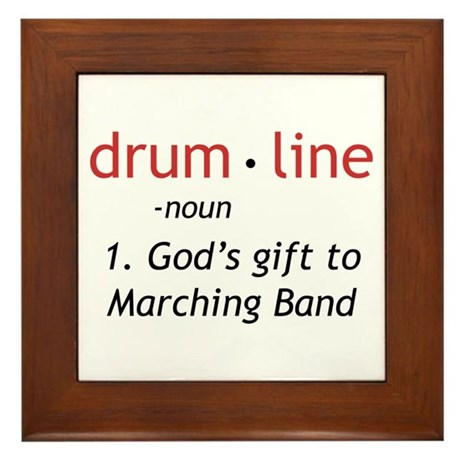 Definition of Drumline Framed Tile