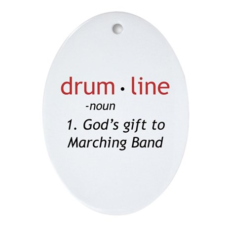 Definition of Drumline Ornament (Oval)