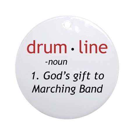 Definition of Drumline Ornament (Round)