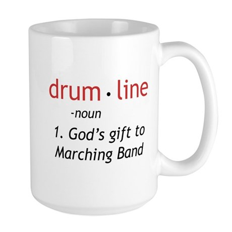 Definition of Drumline Large Mug