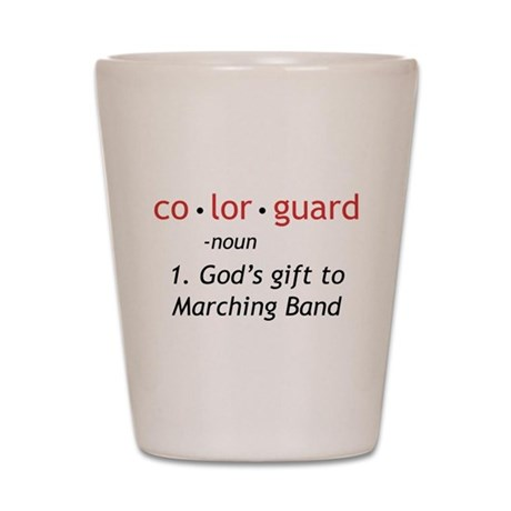 Definition of Colorguard Shot Glass
