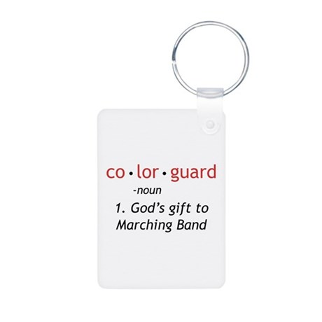 Definition of Colorguard Aluminum Photo Keychain