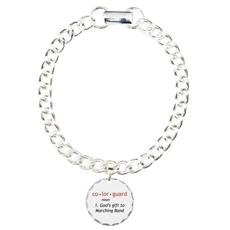 Definition of Colorguard Charm Bracelet, One Charm