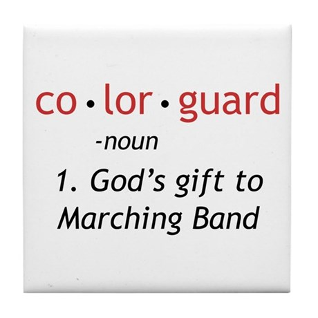 Definition of Colorguard Tile Coaster