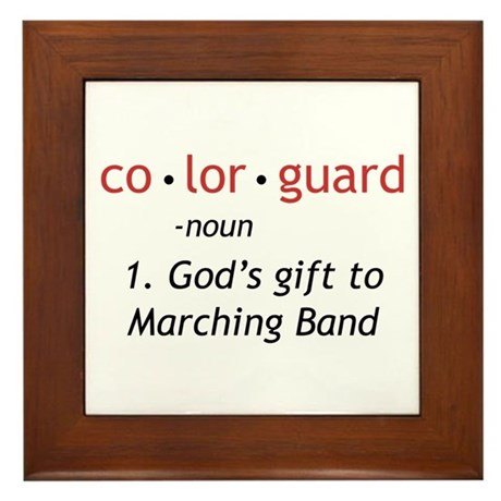 Definition of Colorguard Framed Tile