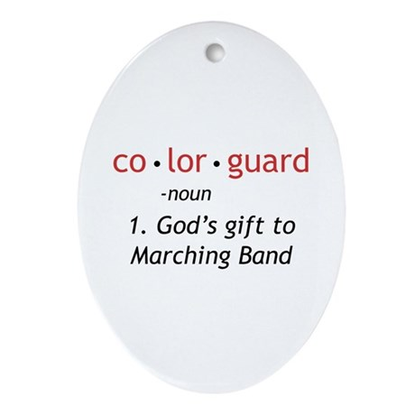 Definition of Colorguard Ornament (Oval)