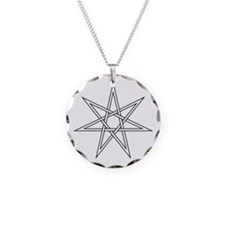 7-Pointed Star Symbol Necklace Circle Charm