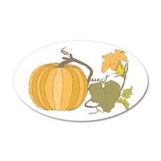 Pumpkin and Vine 38.5 x 24.5 Oval Wall Peel