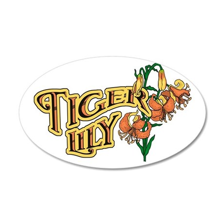 Tigerlily 38.5 x 24.5 Oval Wall Peel