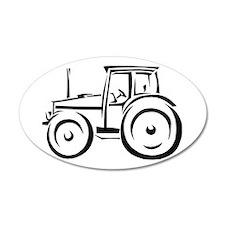 Farm Tractor 22x14 Oval Wall Peel