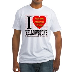 I Love Yellowstone National P Fitted T-Shirt