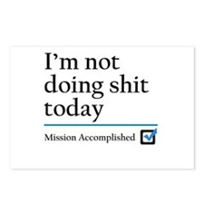 Im Not Doing Sh*t Today Postcards (Package of 8)