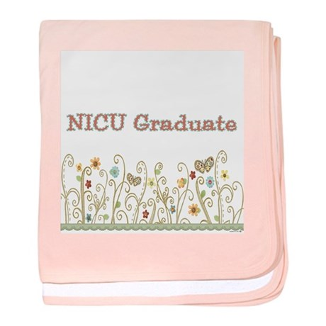 Girl's NICU Graduate baby blanket