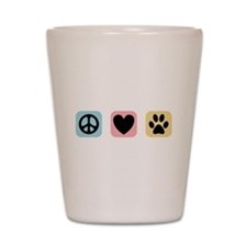 Peace Love Pets [i] Shot Glass