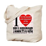 I Love Yellowstone Establishe Tote Bag