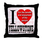 I Love Yellowstone Establishe Throw Pillow