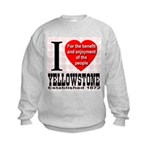 I Love Yellowstone Establishe Kids Sweatshirt