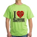 I Love Yellowstone Establishe Green T-Shirt
