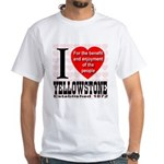 I Love Yellowstone Establishe White T-Shirt