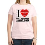 I Love Yellowstone Establishe Women's Pink T-Shirt