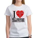 I Love Yellowstone Establishe Women's T-Shirt