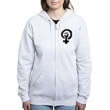 Cute Feminism Zip Hoodie