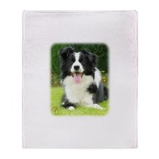 Border Collie 9A014D-14 Throw Blanket