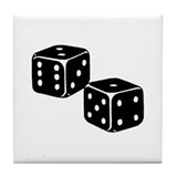 Vintage Dice Icon Tile Coaster