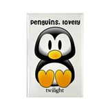 Penguins lovely Twilight Rectangle Magnet