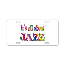 All About Jazz Aluminum License Plate