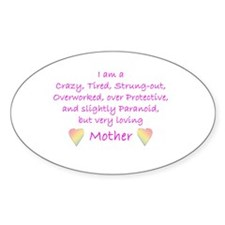 Loving Mother Oval Decal