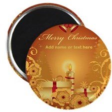 Luxury gold and red Merry Chr Magnet