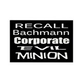 Recall Michele Bachmann Rectangle Magnet