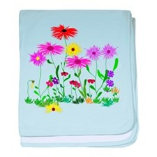 Flower Bunches baby blanket
