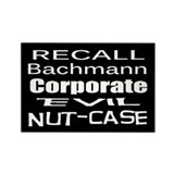 Recall Michele Bachmann Rectangle Magnet (100 pack