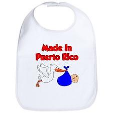 Made In Puerto Rico Boy Bib