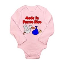 Made In Puerto Rico Boy Long Sleeve Infant Bodysui