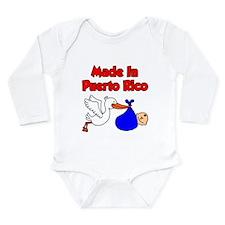 Made In Puerto Rico Boy Long Sleeve Infant Bodysui