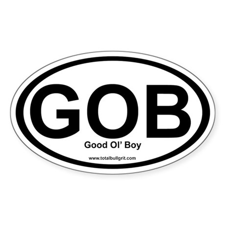 GOB Oval Sticker (10 pack)